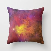 Nebula (Text) Throw Pillow