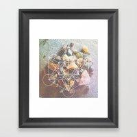 backyard stones Framed Art Print