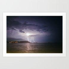 Lightning Storm over Koh Samui Art Print