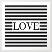 Monochromatic Love Art Print