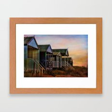Beach Huts. Framed Art Print