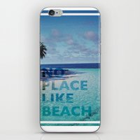 NO PLACE LIKE BEACH iPhone & iPod Skin