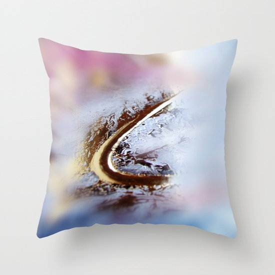Abstract macro GOLDEN-PINK Throw Pillow