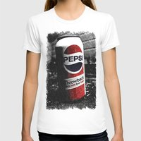 Cola Throwback Womens Fitted Tee White SMALL
