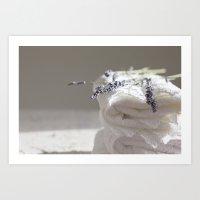 Smell of lavender Art Print