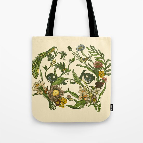 Botanical Pug Tote Bag