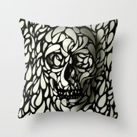 Throw Pillow featuring Skull by Ali GULEC