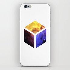 Nebula Cube - White iPhone & iPod Skin
