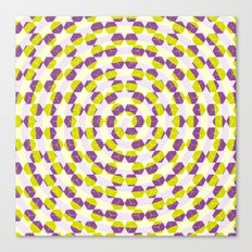 Spiral cubes in yellow and purple Canvas Print