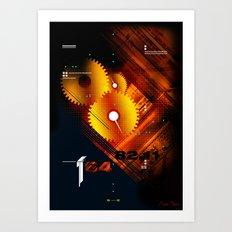 Cogs & Textures Art Print