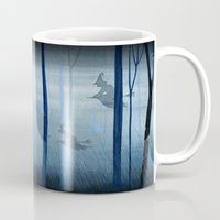 Witches Flying Low Through the Woods Mug