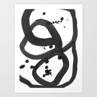 Black & White Abstract 3 Art Print