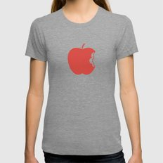 Apple 30 Womens Fitted Tee Tri-Grey SMALL