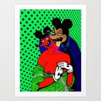 BITE.  (Mouseketeers).  (On Mint). Art Print