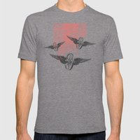 Cosmic Wheels Mens Fitted Tee Tri-Grey SMALL