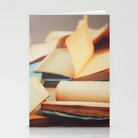 books Stationery Cards featuring Books by Nina's clicks
