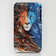 Fire And Ice Lion iPhone (3g, 3gs) Slim Case