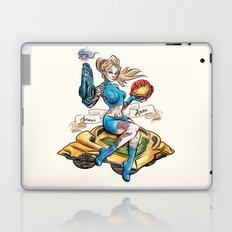 Pinup Samus Tattoo Bomber Girl Laptop & iPad Skin