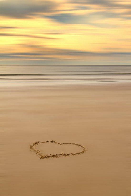 love on the beach Art Print