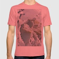 Cotton Castle Mens Fitted Tee Pomegranate SMALL