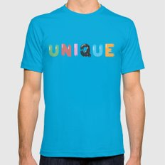 Unique Mens Fitted Tee Teal SMALL