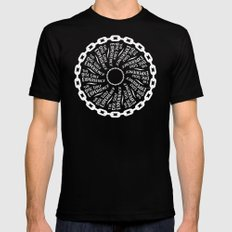 The Disc Golf Experience SMALL Black Mens Fitted Tee