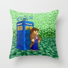 10th Doctor who in 8bit world iPhone 4 4s 5 5c 6, pillow case, mugs and tshirt Throw Pillow