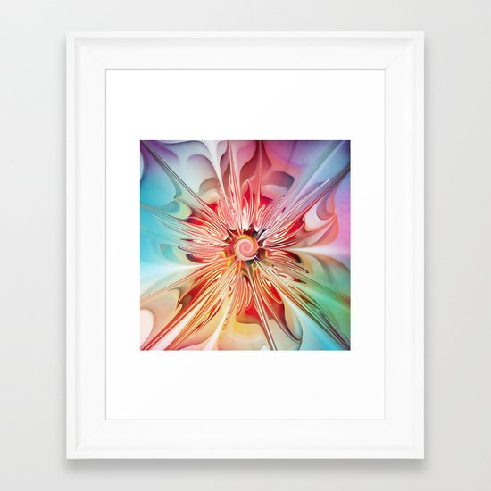 Splendid Fractal Flower Framed Art Print