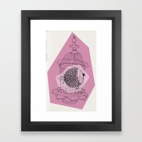 Fishy In Cage Framed Art Print