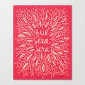 Whatever Will Be, Will Be – Melon Palette Canvas Print