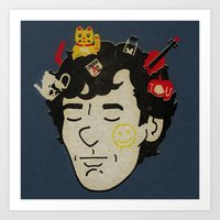 sherlock Art Prints featuring Sherlock by Derek Eads