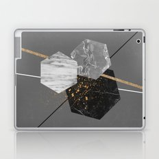Marble Exagons and Gold Laptop & iPad Skin