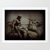 the cavalry Art Print