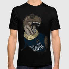Hipstereosaurus Rex Mens Fitted Tee Black SMALL