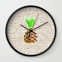 Psych Revamped! Complete List of Gus Nicknames!  Wall Clock