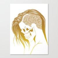 Skull Girls 2 - Royal Gold Canvas Print