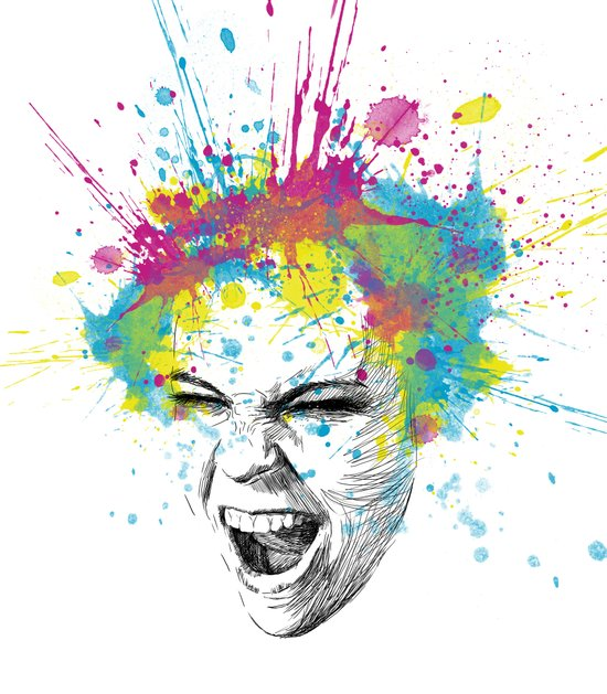 Colorful Scream Canvas Print