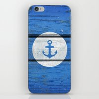 Nautical White Anchor On… iPhone & iPod Skin