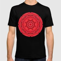 Beautiful Red Rose Manda… Mens Fitted Tee Black SMALL