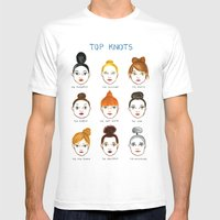 Top Knots Mens Fitted Tee White SMALL