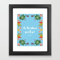 Oh, the places you'll go Framed Art Print