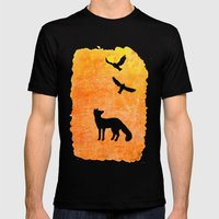 Roaming Fox 2 Mens Fitted Tee Black SMALL