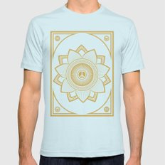 Peace Lotus Mens Fitted Tee Light Blue SMALL