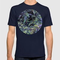 leaves evolved 4 Mens Fitted Tee Navy SMALL