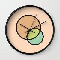 Shapes Illustration Wall Clock