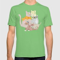 Accessory Cats Mens Fitted Tee Grass SMALL