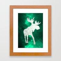 Space Reindeer Framed Art Print