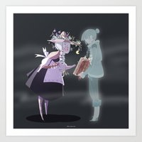 The Witch And The Ghost Art Print