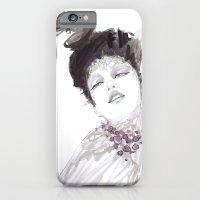 iPhone & iPod Case featuring Purple dramatic fashion illustration by Ioana Avram