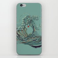 Kissing The Wave iPhone & iPod Skin